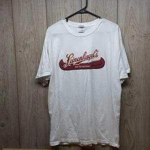 FRUIT OF THE LOOM White Leinenkugels Tshirt